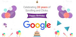 Happy Birthday Google 20 years old