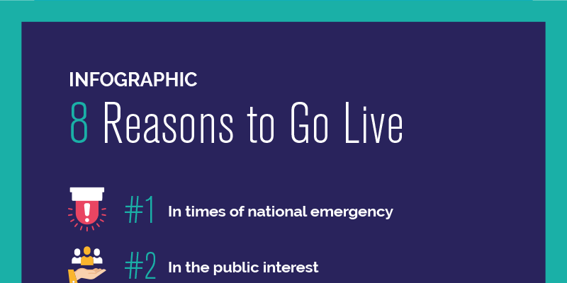 Infographic: 8 Reasons to Go Live