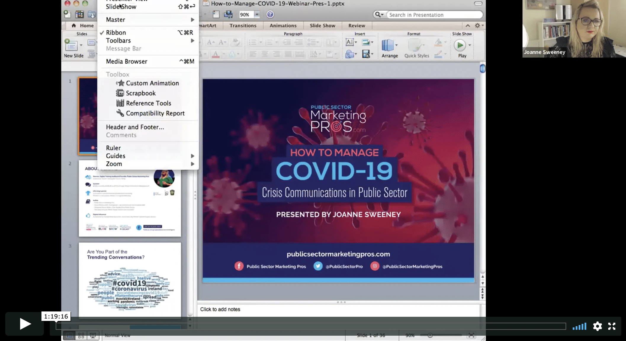 COVID-19 Crisis Comms Webinar Screenshot