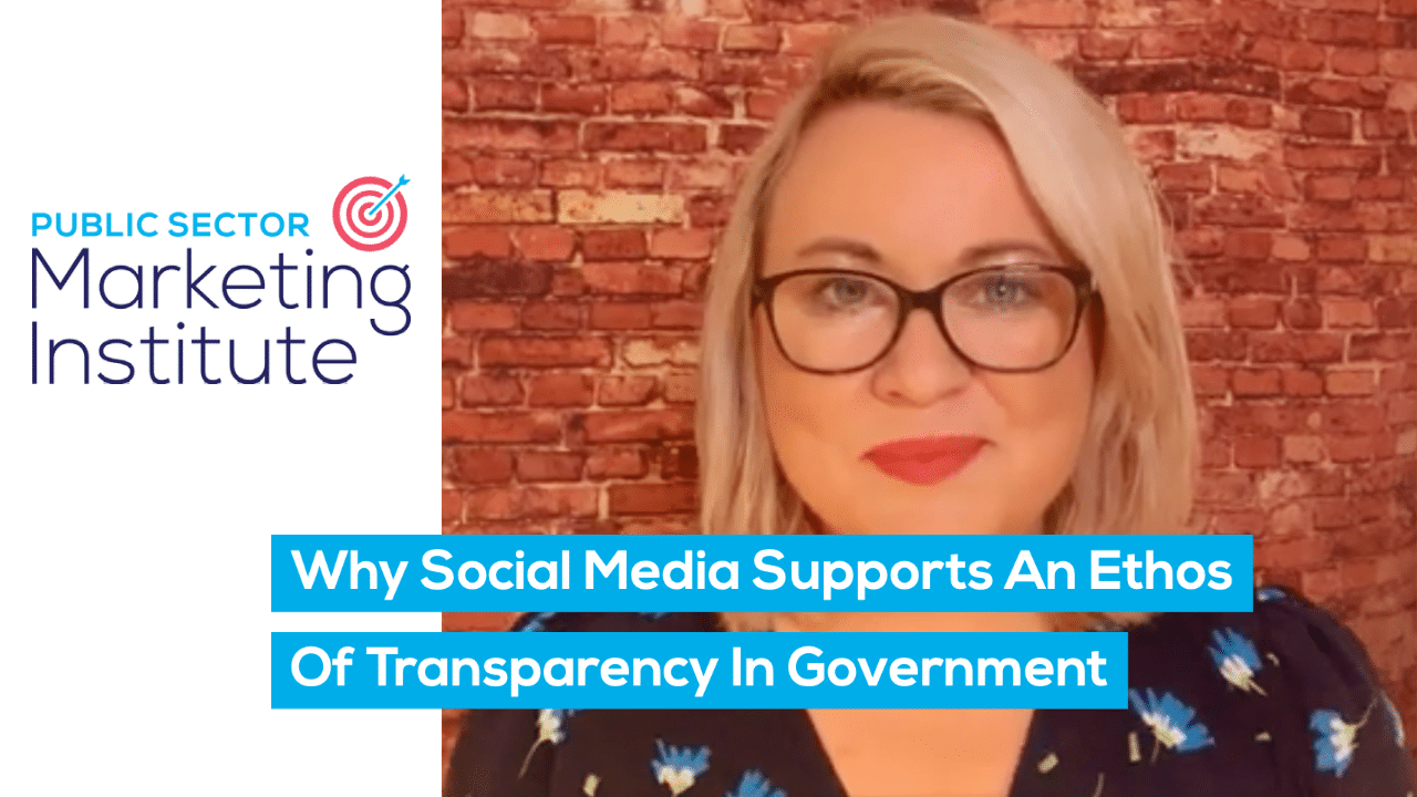 Why Social Media Supports An Ethos Of Transparency In Government