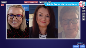 SouthPod Hosts Ruth and Jane with Joanne Sweeney for Podcasts for Public Sector