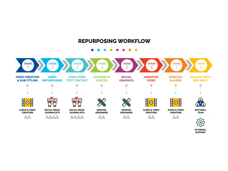 Repurposing Workflow Infographic