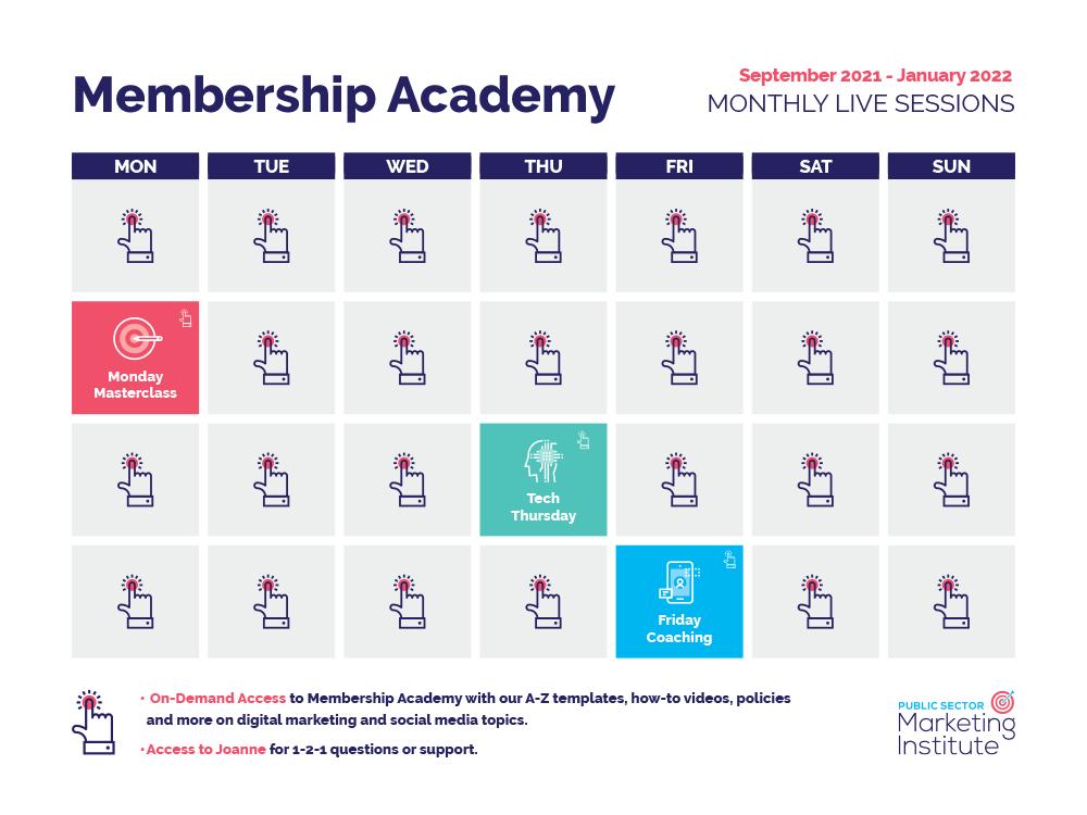 Autumn/Winter Membership Academy Calendar