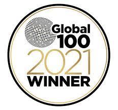 Global 100 2021 Award Winner Badge