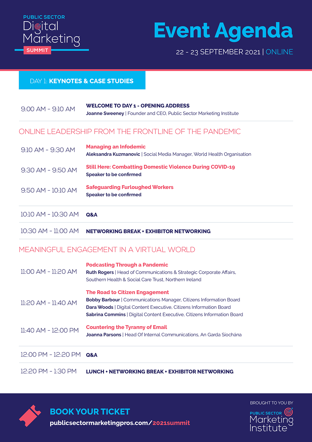 Summit 2021 Agenda Brochure